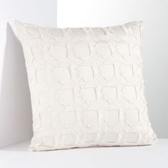 Simply Vera Vera Wang Plaza 300-Thread Count Origami Sateen Decorative Pillow---also in white