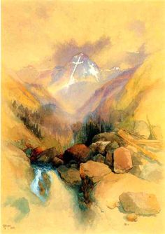 thomas moran watercolor | Thomas Moran, The Mountain of the Holy Cross, 1874, watercolor