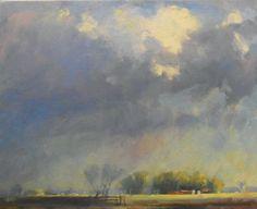 'Morning Light-Sideroad 122'  16x20 Oil on Canvas  by David Sharpe