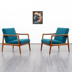 1960s Scandinavian style armchair, teak, reupholstered and newly covered - www.velvet-point.com