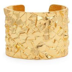 Women's Karine Sultan Rocky Cuff (£76) ❤ liked on Polyvore featuring jewelry, bracelets, gold, geometric jewelry, cuff jewelry, adjustable bangle and cuff bangle