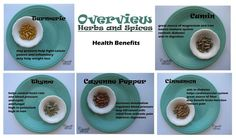 spices and herbs supplement health benefits  ~~ CrystelleBoutique.com