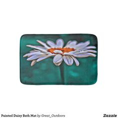 Painted Daisy Bath Mat