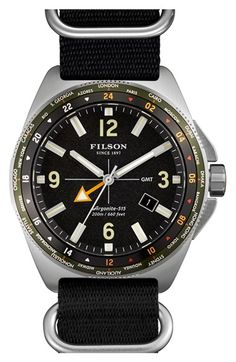 Men's Filson 'The Journeyman' GMT Nato Strap Watch