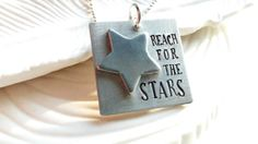 Reach For the Stars  Hand Stamped Inspirational by larkandjuniper, $29.00