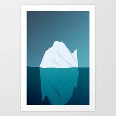 Iceberg in Cold Ocean Art Print by Maciej Konczewski - $14.56    http://society6.com/MaciejK/Iceberg-in-Cold-Ocean_Print
