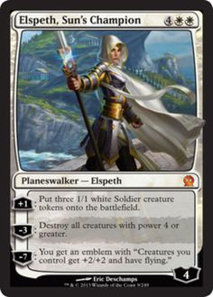 Elspeth-Suns-Champion-x1-Magic-the-Gathering-1x-Theros-planeswalker-NM