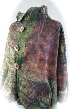 Nuno Felted Reversible Swing Jacket Size M/L by sugarplumoriginals, $1500.00