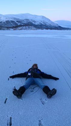 Sul lago ghiacciato - On the iced lake (Aldo Antonicelli, Abisko)