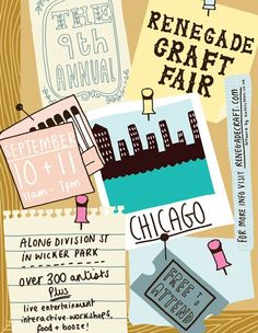 renegade craft fair, seriously, I would kill to attend this, well maybe not kill....