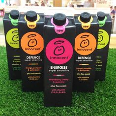 We've made three brand new super smoothies. They're packed full of good stuff, they're absolutely delicious, and they're now available in cartons as well as bottles.