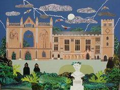 Night Visitors, Newstead Abbey, childhood home of Lord Byron. Amanda White cut paper collage