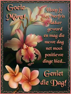 Goeiemôre. Wees positief Good Night Quotes, Morning Quotes, Best Birthday Wishes Quotes, Lekker Dag, Afrikaanse Quotes, Goeie Nag, Goeie More, Christian Messages, Wish Quotes