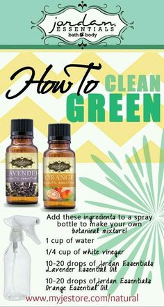 Clean green with Jordan Essentials and essential oils