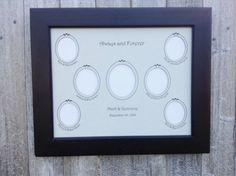 Wedding Family Tree  -Custom -14x11 inch- Three Generation Framed Genealogy Gift