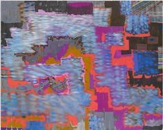 Keltie Ferris,  ++++****)))), 2012, Oil, acrylic and pastel on canvas,  80 by 100 in. 203.2 by 254 cm.