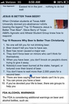 Jesus and Beer