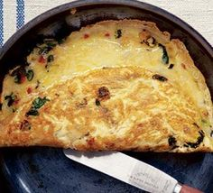 Red chili and cheese omelet