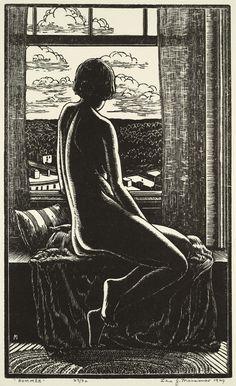 kafkasapartment:  Summer, 1929. Leo John Meissner. Woodcut