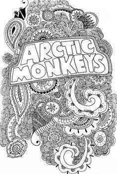 Mesmerizing #ArcticMonkeys art!