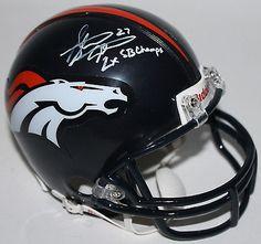 "Broncos Steve Atwater ""2x SB Champs"" Authentic Signed Mini Helmet JSA #J54857"