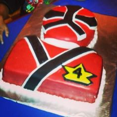 Red Power Ranger Birthday Cake from Cakes by Cristin!