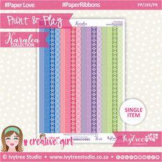 PP/195/PR - Print&Play - Paper Ribbons - Karalea Collection