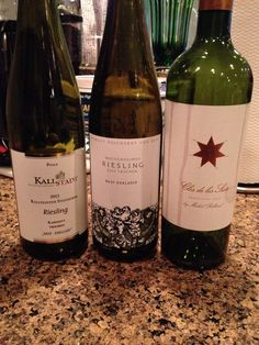 Two good Rieslings and a Mendoza.