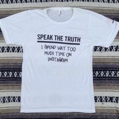 984cf6a5d Ray-Ban Speak the Truth Instagram tshirt w sleeve detail (unisex S/M