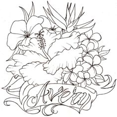 Flower tattoo drawing flower beauty wallpaper: are men oppressed by women who put their hair Hibiscus Flower Tattoos, Hibiscus Flowers, Draw Flowers, Flower Tattoo Drawings, Beauty Salon Design, Glass Garden, Figure Drawing, Trees To Plant, Colorful Flowers