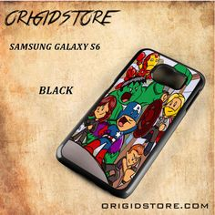 The Avenger Cute Cartoon Black White Snap On 3D For Samsung Galaxy S6 Case