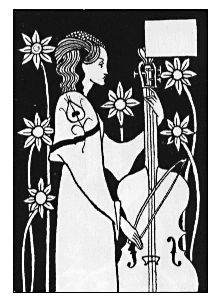 Vignette from 'Le Morte d'Arthur', by  Aubrey Beardsley