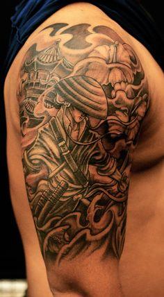 Chronic ink Tattoos, Toronto Tattoo - Samurai cover up by Bks.