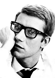 Yves Saint Laurent. Thinking. Creating haute couture next.