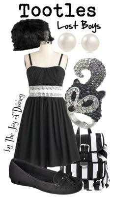 ad640cd4d6a Outfit inspired by Tootles (the skunk) from the Lost Boys in Peter Pan!