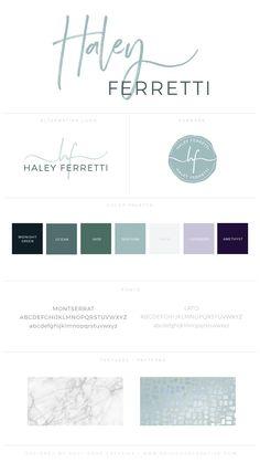 Branding Style Board for Haley Ferretti | Branding Style Board | Branding | Brand Inspiration | Logo Design | Logo Inspiration | Color Palette | Fonts | Brand Design Inspiration | Creative Entrepreneur | Female Entrepreneur | Small Businesses |
