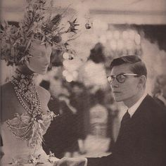Le Dauphin De Dior: Yves Saint Laurent designing for the House of Dior. If you haven't seen it yet, Please watch the Documentary L'Amour Fou. #style #vintage #fashion #dior #accessories #vintagejewelry