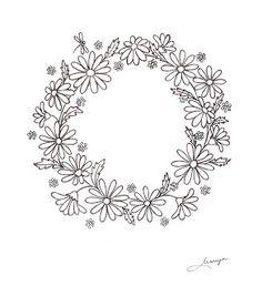 Humming Needles: Daisy Wreath Design