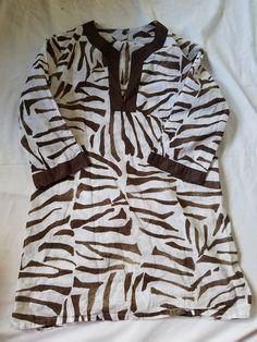 Brown Zebra Print Tunic #Unbranded #Tunic
