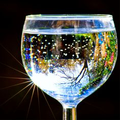 Who knew there could be so much beauty in a glass of water