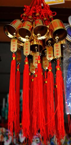 Tibetan Buddhist Goodluck Bells, Namdroling Monastery, India