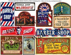 DIGITAL Barber Shop Signs Barber Shop Clip by RarePaperDetective