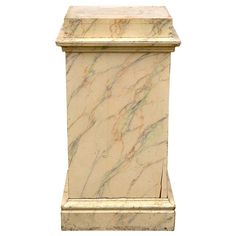 19th Century Large Marbled Wood Pedestal