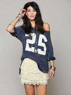 Tiered crochet mini skirt with scalloped bottom hem
