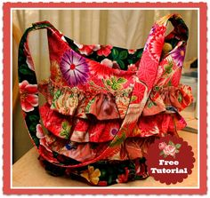 Ruffled Layers Shoulder Bag – Free Sewing Tutorial | How to use the Ruffler Foot  ...with SewEtcetera ✄ & The Project Princess Strikes Again ♛