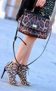 Dolce&Gabbana lepard handbag  www.glamonyou.com