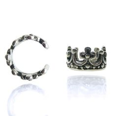 Bague d'oreille couronne Faux Écarteurs, Faux Piercing, Cartilage, Oc, Bracelets, Silver, Jewelry, Crown Pattern, Jewelery