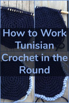 How to Work Tunisian Crochet in the Round the Simple Way This technique is great for crocheting hats! You'll need to use a special hook and two separate skeins of yarn. Crochet Round, Knit Or Crochet, Crochet Crafts, Crochet Hooks, Free Crochet, Lace Knitting, Crochet Granny, Crochet Basics, Crochet Cardigan