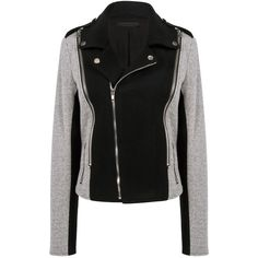 10 Corso - Grato leather jacket ($315) ❤ liked on Polyvore featuring outerwear, jackets, leather moto jacket, black leather jacket, black moto jacket, motorcycle jacket and zipper jacket