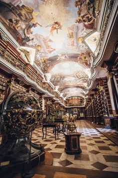 Prague's Klementinum library was opened in 1722 and has easily become one of the most beautiful libraries in the world.
